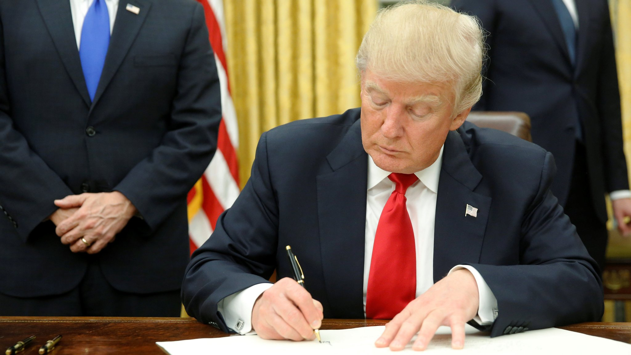 Donald Trump begins overhaul as first executive orders signed