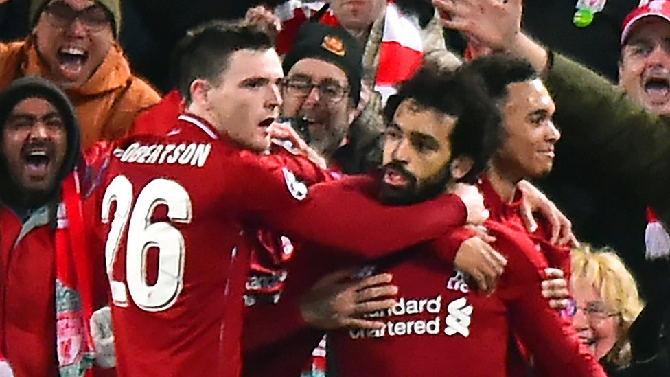 Liverpool 1-0 Napoli: Salah scores as Reds reach Champions League knockout stage