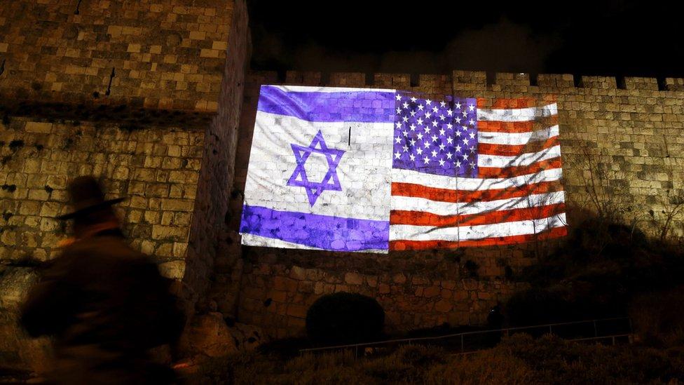 أعلام الولايات المتحدة وإسرائيل