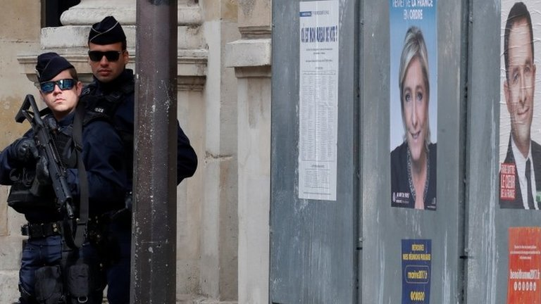 France votes for new president amid high security