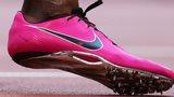 An athlete's shoe