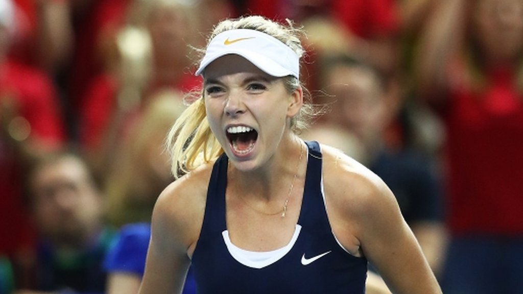 Fed Cup: Great Britain promoted to World Group II with play-off win over Kazakhstan