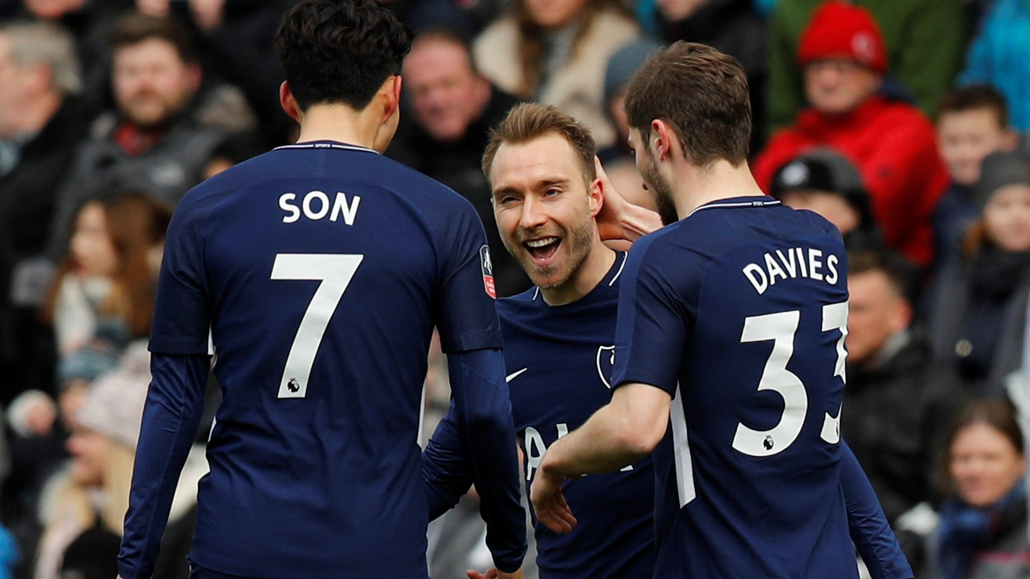 Eriksen scores two as Spurs reach FA Cup semi-finals