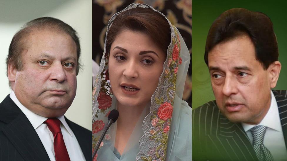 د پاکستان پخوانی لومړی وزير او لور یې مریم نواز د زندان په سزا محکوم شوي