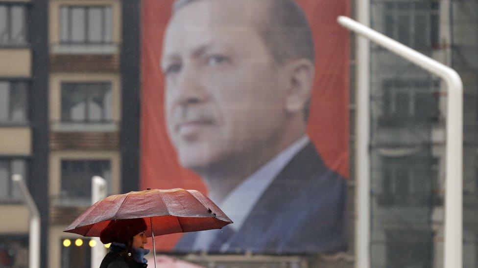 صورة لإردوغان في أحد شوارع اسطنبول