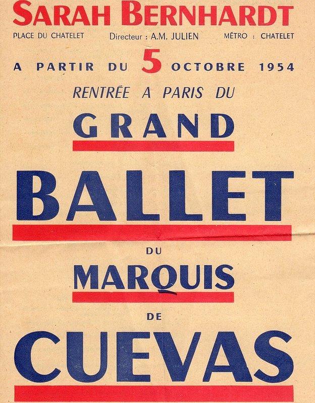 Cartel del Ballet del Marqués de Cuevas