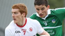 Peter Harte of Tyrone and Gearoid Hegarty of Limerick