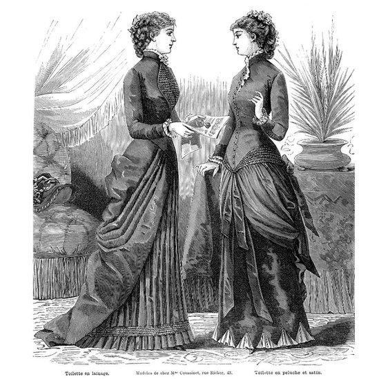 """Rusia no era el único país en el siglo XIX en donde las mujeres tenían prohibido seguir estudios universitarios. Esta imagen fue extraída del libro: """"La mode illustrée"""" (""""La moda ilustrada""""), impreso en 1882 en París."""