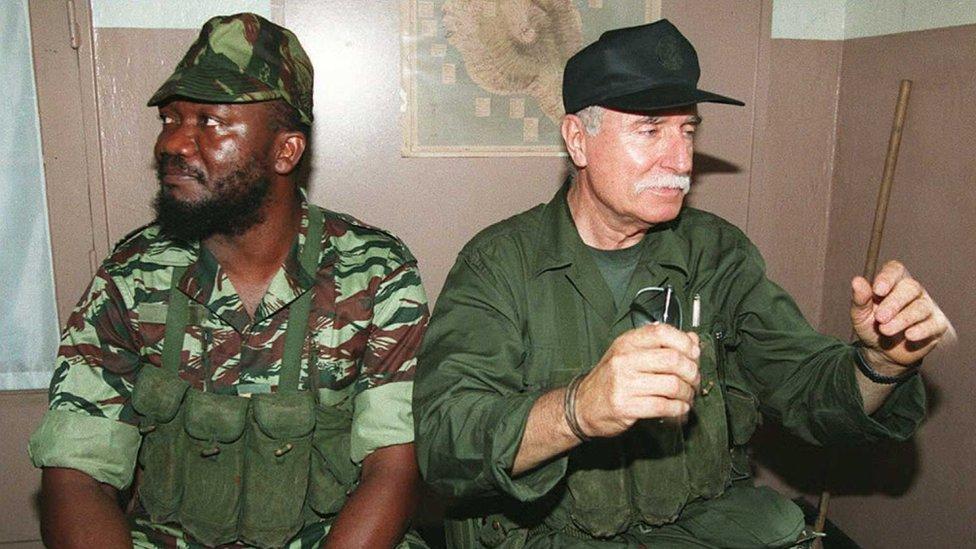 Comoran rebel Captain Combo and French mercenary Bob Denard