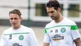 Celtic's Scott Allan and Charlie Mulgrew