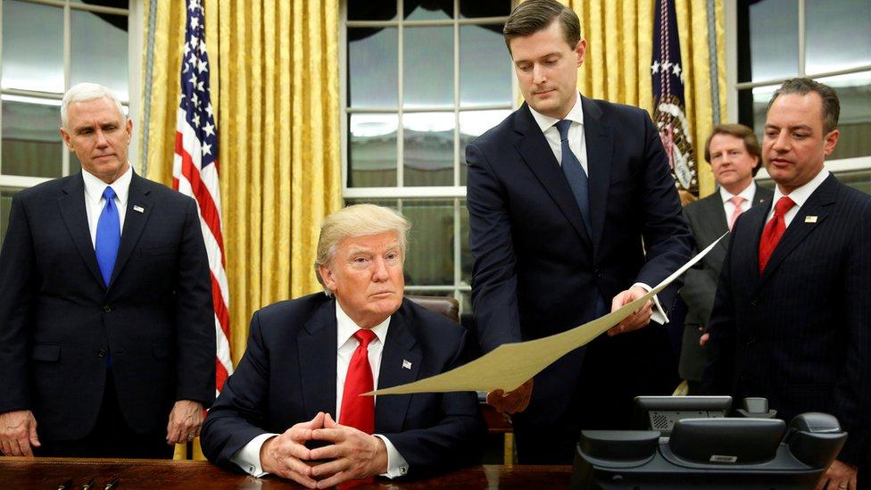 الرئيس ترامب وبورتر