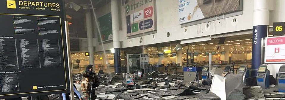 Brussels airport after the explosion