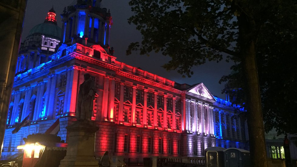 Pictures: Landmarks light up for Manchester attack victims