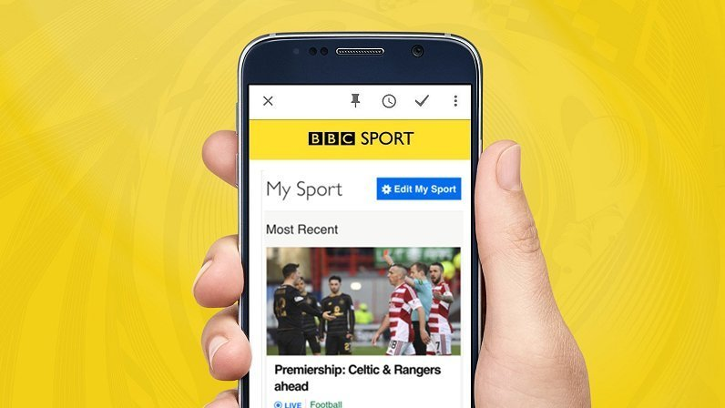 Personalise your BBC Sport app and sign up for alerts