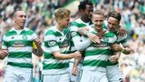 Celtic players celebrating