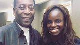 Eniola Aluko meets Brazilian legend Pele in a chance encounter