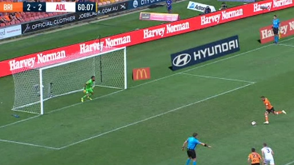 Could this be the new Panenka? Brisbane player scores a cheeky penalty