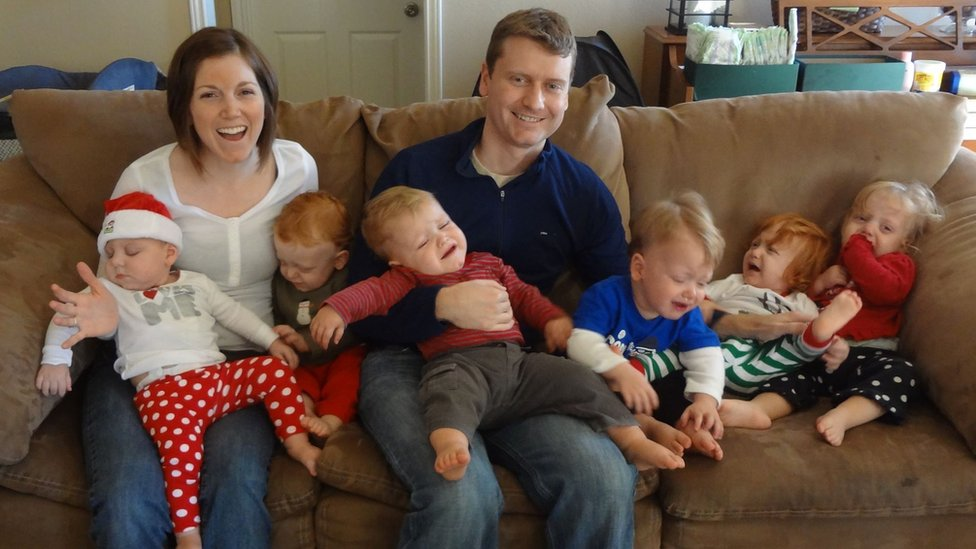 The 'controlled chaos' of raising sextuplets