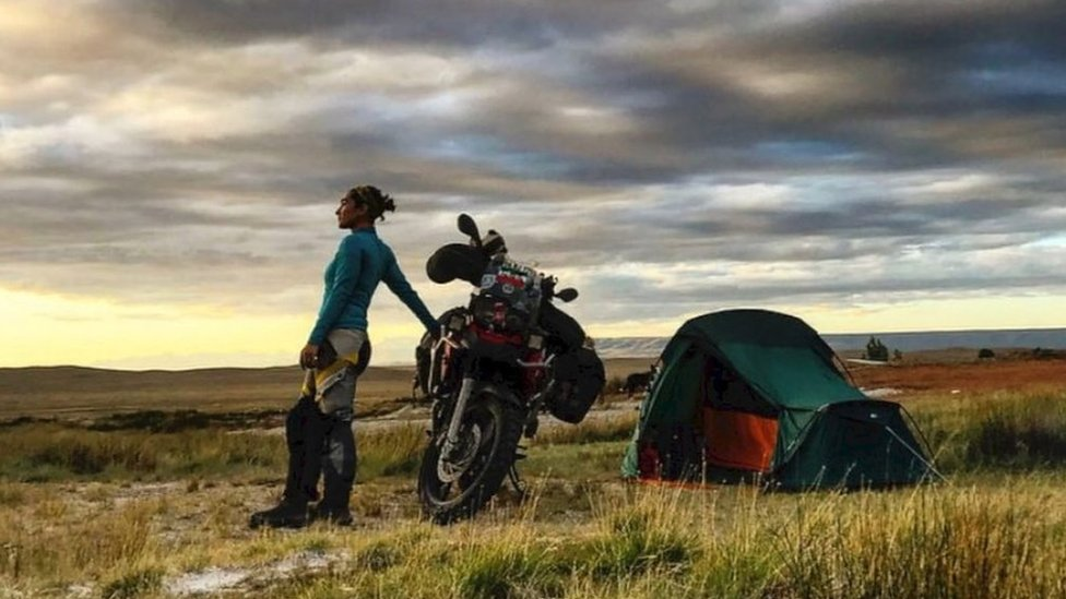 The groundbreaking female superbiker travelling the world