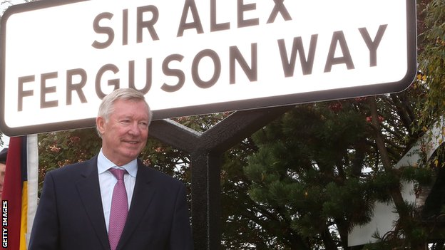 Sir Alex Ferguson receives the honorary freedom of the Borough of Trafford and has a street renamed after him