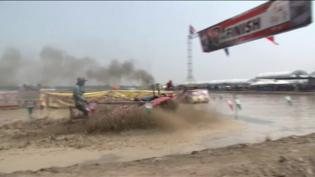 Is this the world's muddiest tractor race?