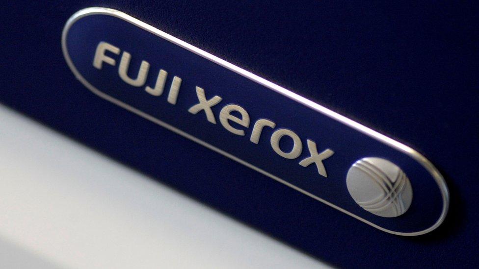 Logo de Fuji Xerox.