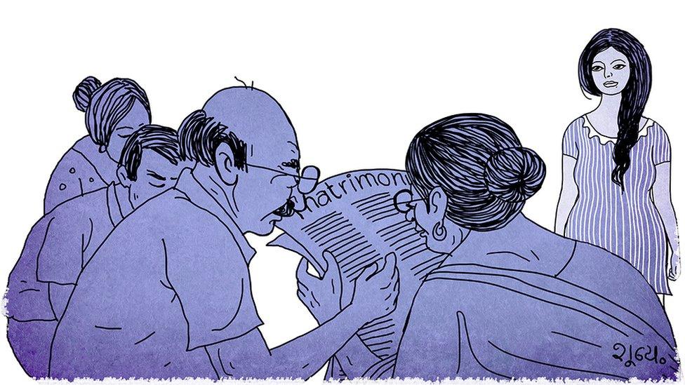Ilustración de un grupo de personas mirando un periódico.