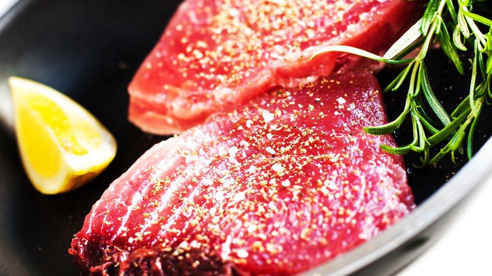 Filetes de atún