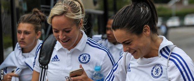 Gemma Davison (centre) and Claire Rafferty