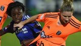 Leanne Ross holds off Chelsea's Eni Aluko