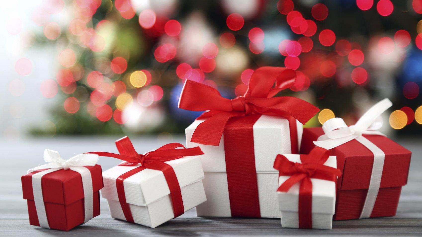 Christmas Eve Gift Box Santa Present Kids Children Favour Festive Decor Party