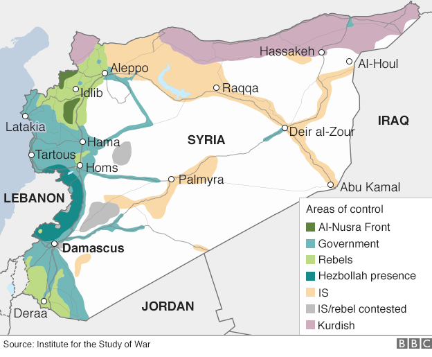 Map of areas of control in Syria (8 December 2015)