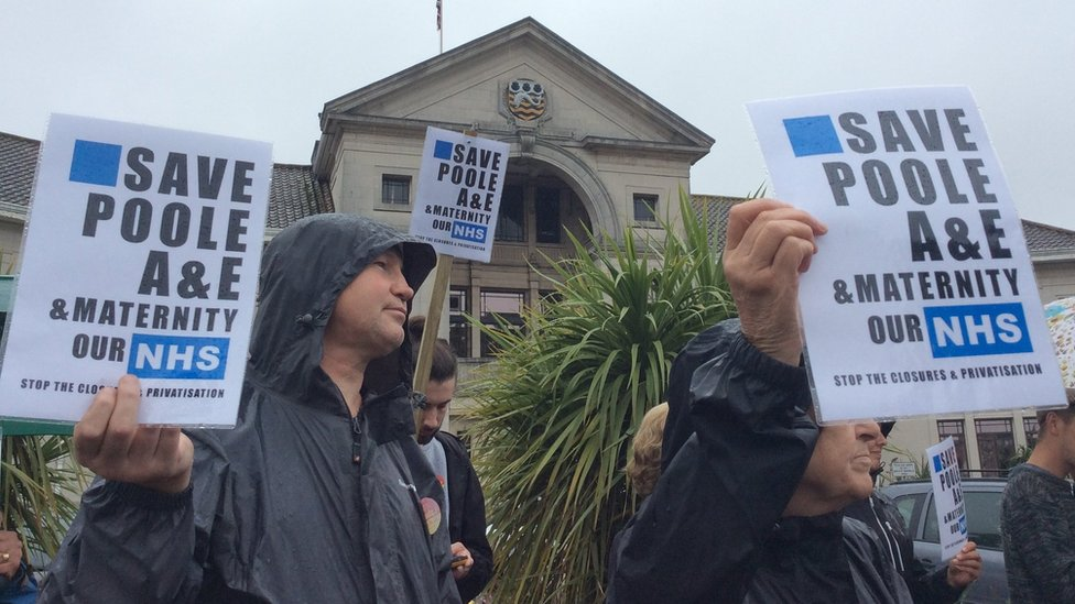 Poole's support over hospital shake-up plan referral stalls