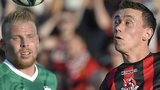 Crusaders drew 0-0 with Levadia Tallinn in the first leg