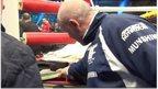 VIDEO: Furys team in ring foam row