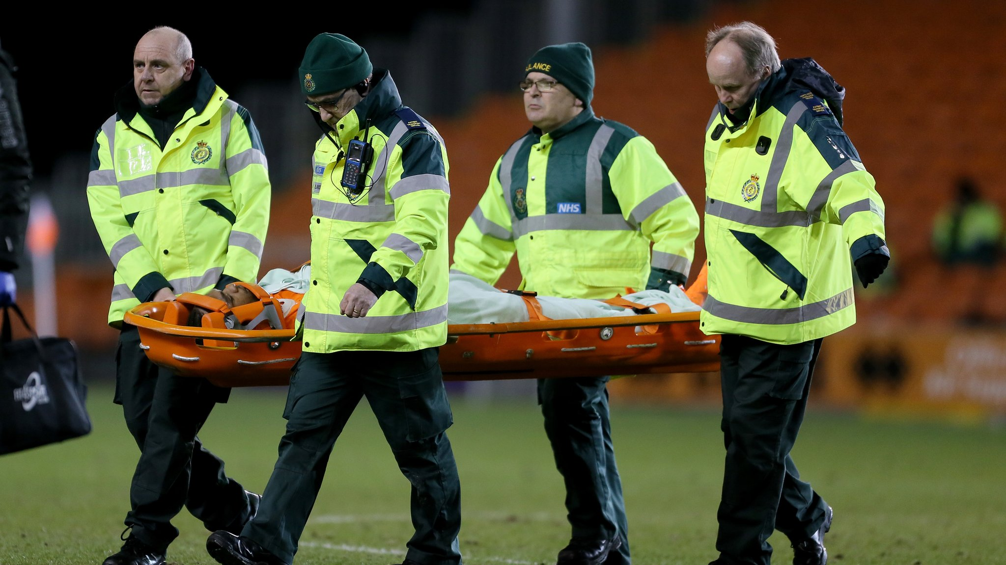 Nathan Delfouneso: Blackpool striker hopes for quick recovery after being knocked out