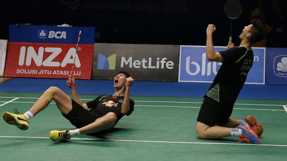 Li Junhui/Liu Yuchen, cina, indonesia terbuka, badminton