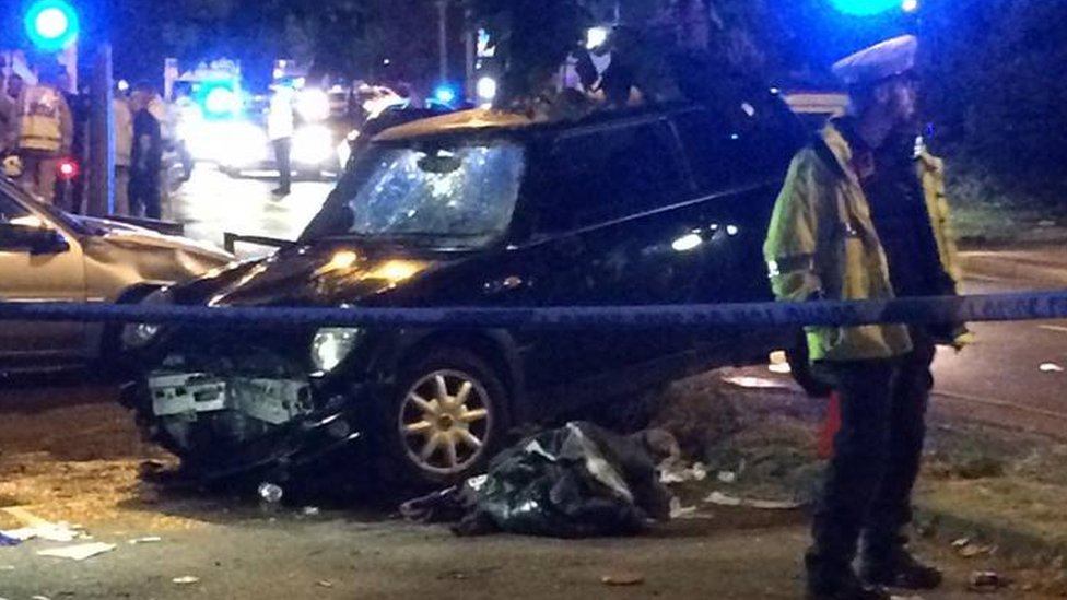 Medway City Estate crash: Four seriously injured by car