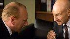 Adrian Scarborough and Patrick Stewart in Blunt Talk