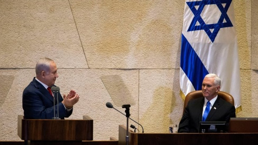 نائب الرئيس الأمريكي أمام الكنيست: نقل سفارتنا إلى القدس بنهاية 2019