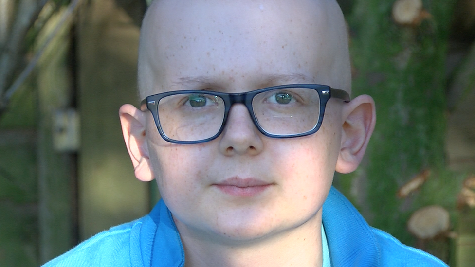 The teen battling cancer and 'living every day as it comes'