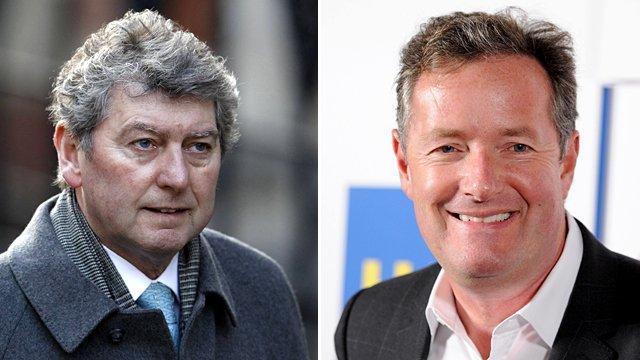 Colin Myler and Piers Morgan
