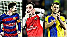 Lionel Messi, Angel Di Maria and Gary Cahill