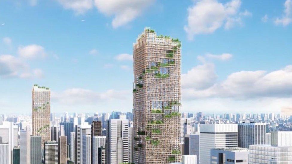 rascacielos de madera. Foto: Sumitomo Forestry