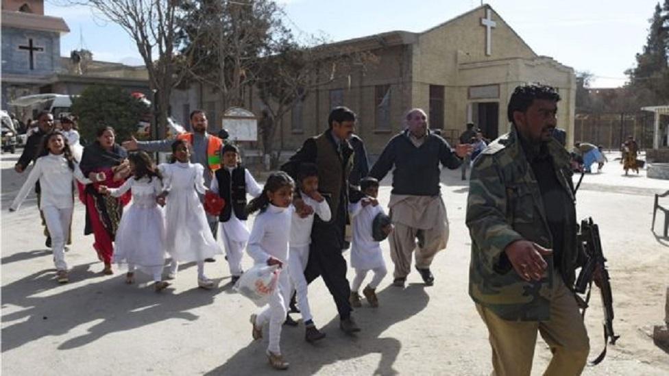 Anak-anak di evakuasi
