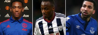 Anthony Martial, Saido Berahino and Aaron Lennon