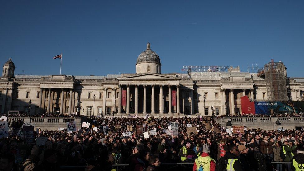 Protesta de Womens March en Londres