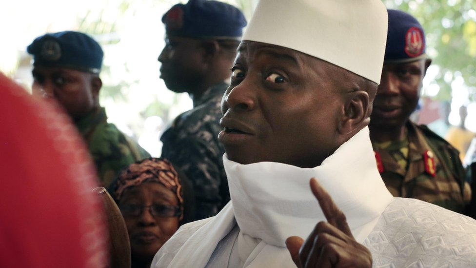 Gambia's Jammeh loses to Adama Barrow in shock election result