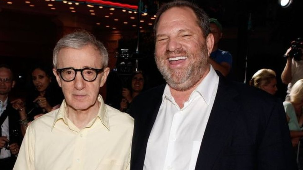 Woody Allen y Harvey Weinstein.