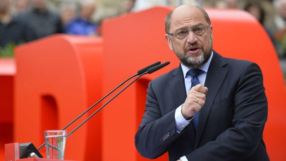 La defensa de la Unión Europea es la principal bandera de Schulz.